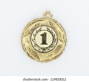 medal on a snow