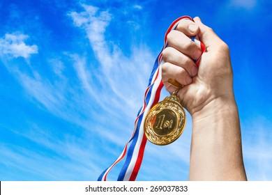 Medal, Winning, Victory.