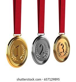 Medals 3D Rendering