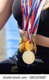 A lot of medals. Victory in the competition.