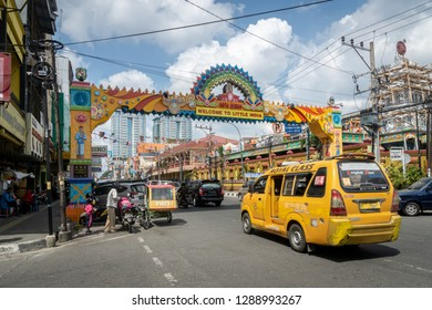 Medan, Indonesia - January 2018: Little India in Medan, North Sumatra, Indonesia. Medan is the fourth biggest city by population in Indonesia.