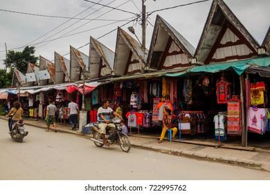 MEDAN, INDONESIA - SEPTEMBER 16,2017 : The Souvenirs of Medan Sold in the Market in Samosir Island, Medan, Indonesia