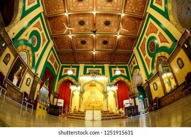 Medan, North Sumatera/Indonesia: 29th February 2013: The Grandeur Interior Design of Istana Maimun (Maimun Palace)