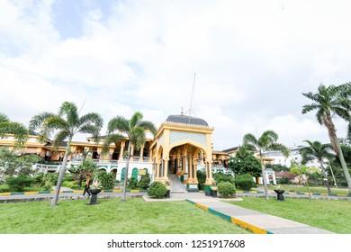 Medan, North Sumatera/Indonesia: 29th February 2013: The Facade of Istana Maimun (Maimun Palace)