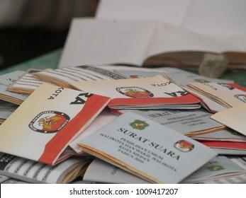 Medan, North Sumatra / Indonesia - May 12 2010 : Counting votes. Indonesian general election 2010