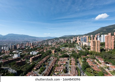 Medellin, Antioquia, Colombia. March 10, 2018: Overview of the city