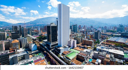 Medellin, Antioquia, Colombia. May 24, 2013: Panoramic of the City of Medellin.