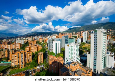 Medellin, Antioquia, Colombia. May 24, 2013: Panoramic of the Poblado.