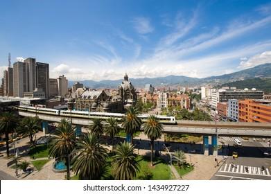 Medellin, Antioquia, Colombia. November 18, 2009: Panoramic of Medellin city