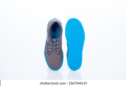 MEDELLIN - COLOMBIA - April 12, 2019: New shoe style VANS. Taken in studio and isolated on white background