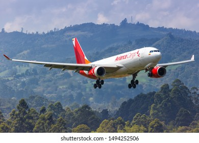 Medellin, Colombia – January 26, 2019: Avianca Cargo Airbus A330-200F airplane at Medellin airport (MDE) in Colombia.