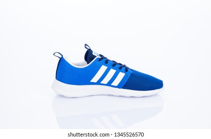 MEDELLIN - COLOMBIA - March 17, 2019: New shoe style ADIDAS. Taken in studio and isolated on white background