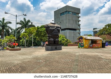 Medellin, Colombia, March 24, 2018: Botero sculpture located in Medellin, at San Antonio Park in Colombia.  Botero donated 23 sculptures to his hometown, it is the most visited attraction by tourists.