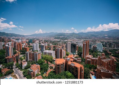 Medellin el poblado building downtwon