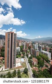 Medellin el poblado building downtwon - Shutterstock ID 1251881179