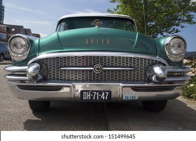 MEDEMBLIK, NETHERLAND, -JULY 28 : Buick Roadmaster 1955 during a oldtimer show on July 28, 2013 in Medemblik, Netherlands.