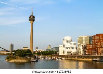 Media Harbor in Dusseldorf, Germany