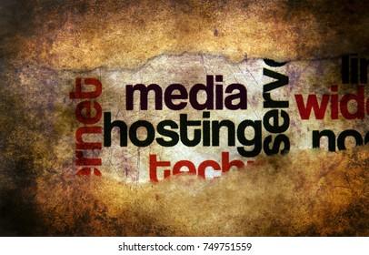 Media hosting grunge concept