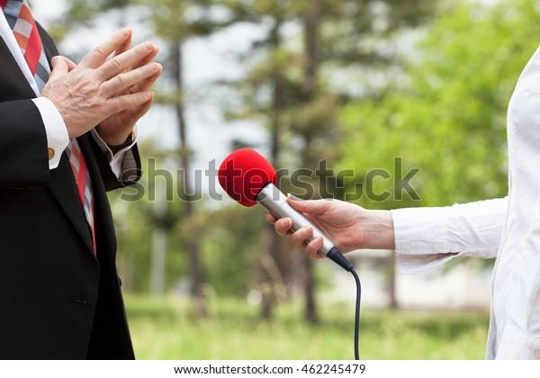 Media interview. Journalism.