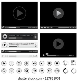 Media players. Vector version also available in gallery.