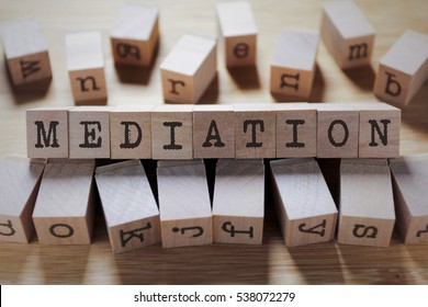 Mediation Word In Wooden Cube