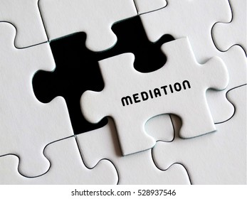 Mediation written on missing puzzle.