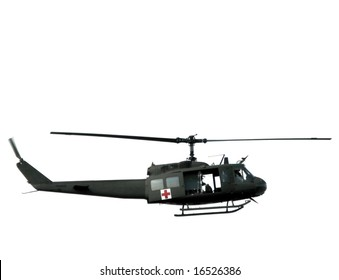 Medic army Bell Huey UH-1 series Iroquois helicopter