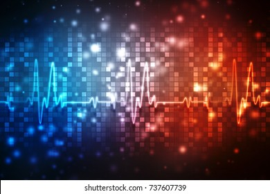 Medical abstract background, ecg background, medical structure background