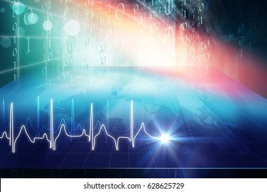 Medical Abstract Digital Background, Suitable for Health care and Medical News Topic