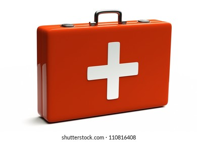 a medical bag isolated on white