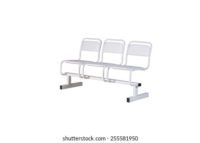 medical bench solated under the white background
