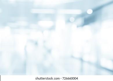 MEDICAL BLURRED BACKGROUND, MODERN CLINICAL CENTER, HOSPITAL CORRIDOR