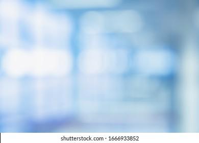 MEDICAL BLURRED BACKGROUND, MODERN LIGHT DOCTOR ROOM, HOSPITAL INTERIOR