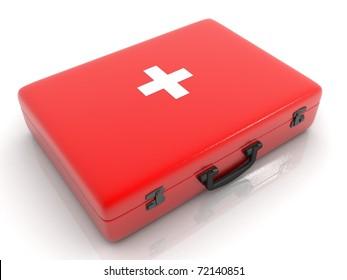 medical box isolated on white background