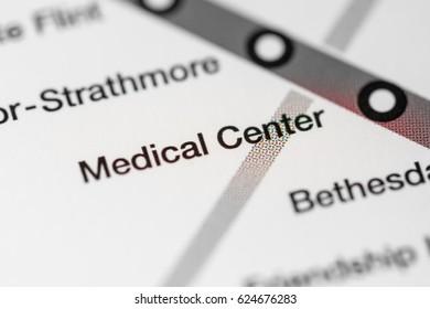 Medical Center Station. Washington DC Metro map.