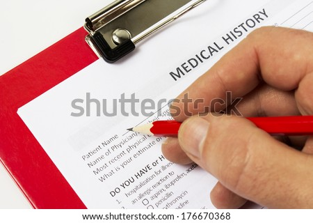 medical claim form patient medical history stock photo edit now