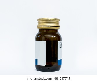 medical container over white background