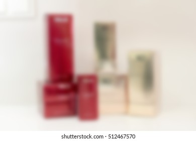 Medical cosmetology clinic theme creative abstract blur background with bokeh effect
