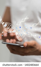 medical data digital in hand concept