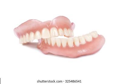 Medical denture on white background