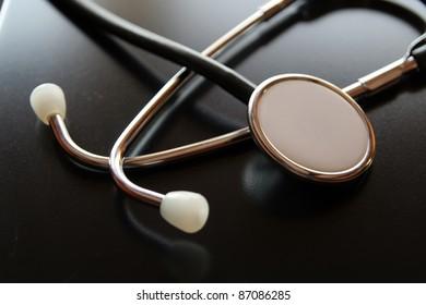 Medical diagnostic tool. Doctors stethoscope. Medical stethoscope.