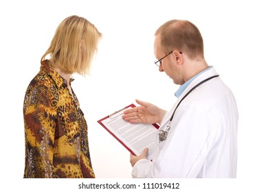 Medical doctor and patient