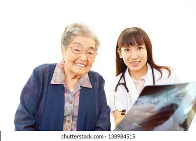 Medical doctor with senior woman