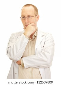 Medical doctor waiting for the next patient
