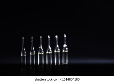 Medical drug in ampoules. Medicines for injection.