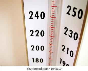Medical Equipment - Blood Pressure Meter. Intentional selective focus.