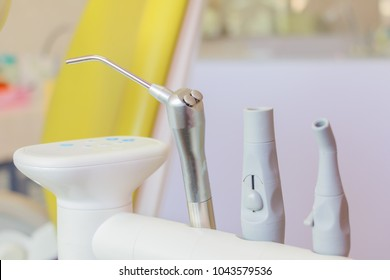 Medical equipment Different dental drills instruments and specialized treat types of disease teeth oral with copy space add text