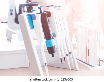 Medical equipment in the laboratory for blood sampling concept of modern methods of blood analysis hematology and immunology