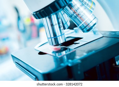 Medical equipment. microscope. Background