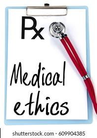medical ethics text write on prescription
